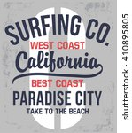 california typography for t... | Shutterstock .eps vector #410895805