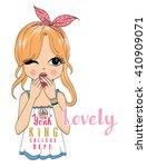 girl | Shutterstock .eps vector #410909071