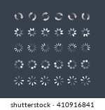 loading and buffering icon set. ... | Shutterstock .eps vector #410916841