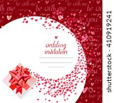 templates with gift box and... | Shutterstock .eps vector #410919241