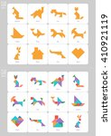 tangram set. collection of... | Shutterstock .eps vector #410921119
