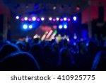blue concert lights bokeh | Shutterstock . vector #410925775