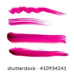 set of hand painted brush... | Shutterstock . vector #410934241