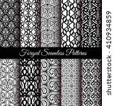 set of luxury forged seamless... | Shutterstock .eps vector #410934859