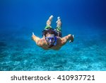 underwater shoot of a young man ...