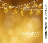 ramadan moon  stars. party... | Shutterstock .eps vector #410946814