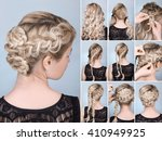 tutorial photo braided... | Shutterstock . vector #410949925