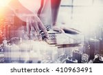 double exposure photo.female... | Shutterstock . vector #410963491