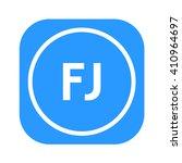 letters fj rounded square shape ... | Shutterstock .eps vector #410964697