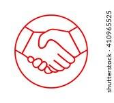 handshake   line icon. | Shutterstock .eps vector #410965525