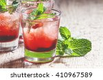 alcoholic cocktail with white... | Shutterstock . vector #410967589