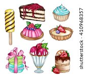raster illustration with... | Shutterstock . vector #410968357