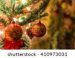 christmas globes ornaments | Shutterstock . vector #410973031