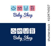 vector cute baby shop logo in...   Shutterstock .eps vector #410974507