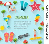 Flat Summer Holidays  Beach...