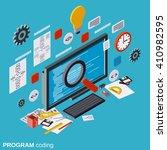 program coding  seo... | Shutterstock .eps vector #410982595