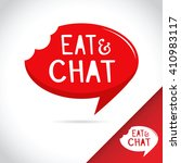 eat and chat speech bubble... | Shutterstock .eps vector #410983117