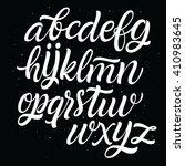 handwritten script alphabet.... | Shutterstock .eps vector #410983645