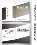 set of business templates for... | Shutterstock .eps vector #410989321