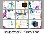 set of 9 vector templates for... | Shutterstock .eps vector #410991205