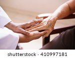 old people in geriatric hospice ... | Shutterstock . vector #410997181