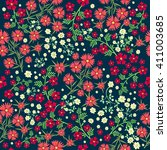 seamless ditsy. floral pattern. ... | Shutterstock .eps vector #411003685