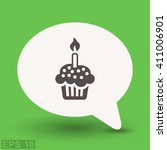 pictograph of cake | Shutterstock .eps vector #411006901
