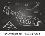 black and white motivational... | Shutterstock .eps vector #411017215