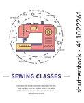 Sewing Machine Logo. Thin Line...