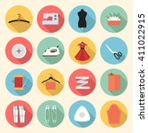 sewing icons set. sewing and... | Shutterstock .eps vector #411022915