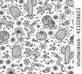 nature. vector desert...   Shutterstock .eps vector #411028621