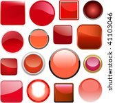 red buttons for design. vector... | Shutterstock .eps vector #41103046