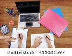 close up of college student... | Shutterstock . vector #411031597