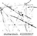 scratch grunge  effect . simply ... | Shutterstock .eps vector #411032017