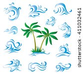 summer element | Shutterstock .eps vector #411032461