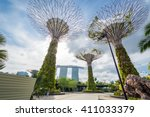 garden by the bay singapore | Shutterstock . vector #411033379
