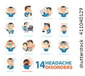 headache disorders info... | Shutterstock .eps vector #411040129