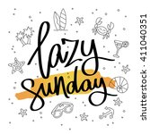 lazy sunday. fashionable... | Shutterstock .eps vector #411040351