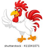 cartoon rooster giving thumb up | Shutterstock .eps vector #411041071