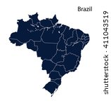 brazil map | Shutterstock .eps vector #411043519