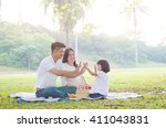 asian family | Shutterstock . vector #411043831