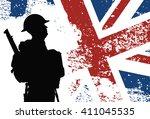 british soldier | Shutterstock .eps vector #411045535