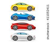 vector set. car icons. | Shutterstock .eps vector #411052411