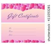 gift certificate coupon... | Shutterstock .eps vector #411053281