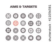 collection of flat game targets ... | Shutterstock .eps vector #411056581