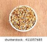 Small photo of Healthy food sprouted and regular horse gram in a tray.