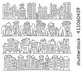 sketch big city architecture... | Shutterstock . vector #411060439