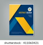 abstract yellow line design on... | Shutterstock .eps vector #411063421