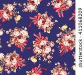 rose flower pattern    Shutterstock .eps vector #411068209