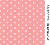 pink seamless polka dots pattern   Shutterstock .eps vector #411068791